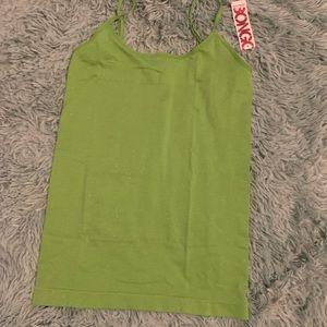 ⚡️5 for $25⚡️ Bongo Glittery Green Tank Top